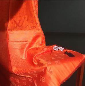Silk Cashmere Louis Vuitton Orange