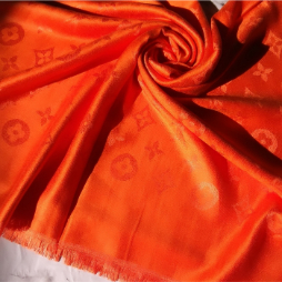 Silk Cashmere Louis Vuitton Scarf Orange2