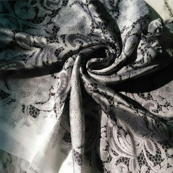 Silk Classic Hijab Grey Black