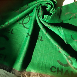 Silk Scarf Chanel Green