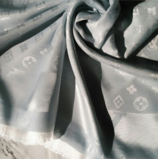 Silk Scarf Chanel Ice Blue