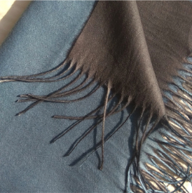 Two Sided Winter Wrap Blue Grey