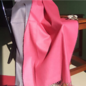 Two Sided Winter Wrap Pink Grey 1