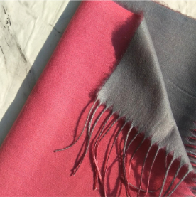 Two Sided Winter Wrap Pink Grey