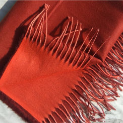 Two Sided Winter Wrap Red Orange