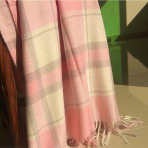 Winter Wrap Scarf Pink