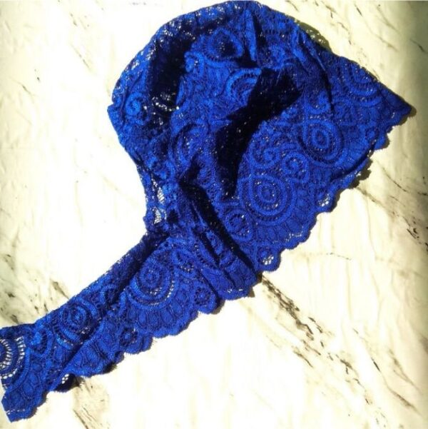Lace Underscarf Electric Blue