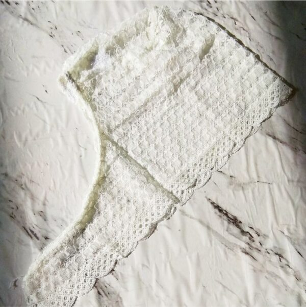 Lace Underscarf Off White