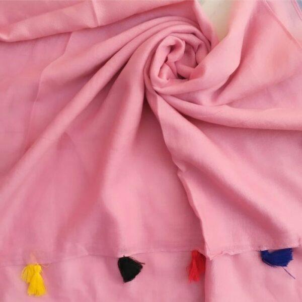 Lawn Hijab with Tassels Blush Pink