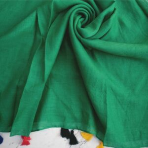 Lawn Hijab with Tassels Green