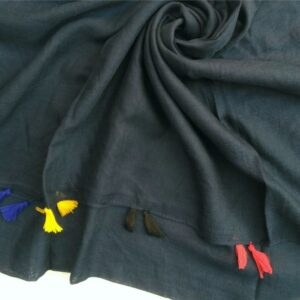 Lawn Hijab with Tassels Navy