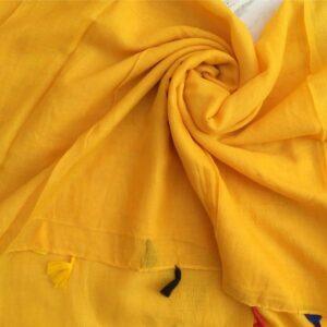 Lawn Hijab with Tassels Yellow