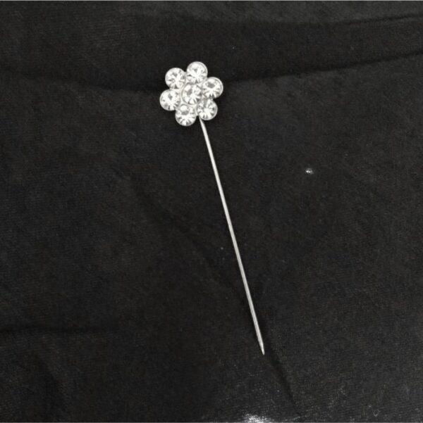 Crystal Flower Hijab Pins
