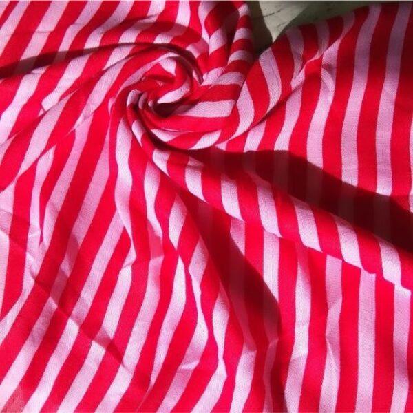 Silk Hijab with Red Stripes