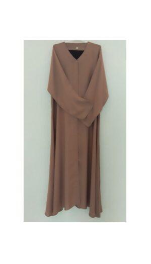 Plain Light Rouge Open Abaya