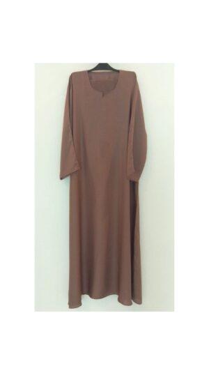 Plain Brown Closed Abaya