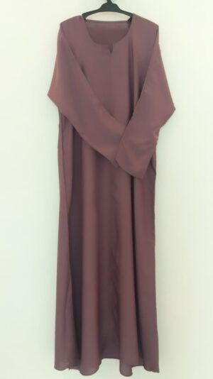Plain Mauve Closed Abaya