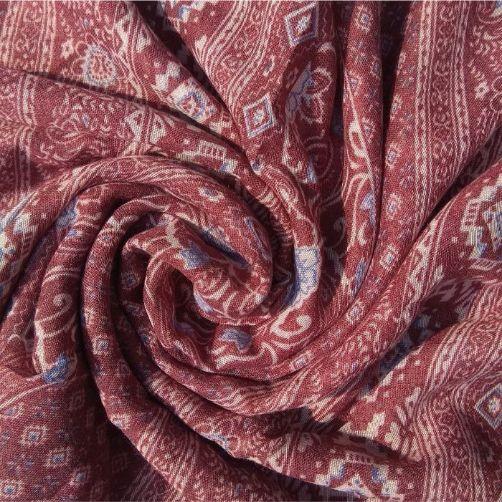 Printed Lawn Floral Rose Wood