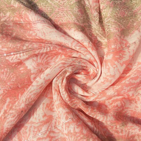 Printed Lawn Hijab Baby Pink