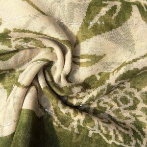 Printed Lawn Hijab Green