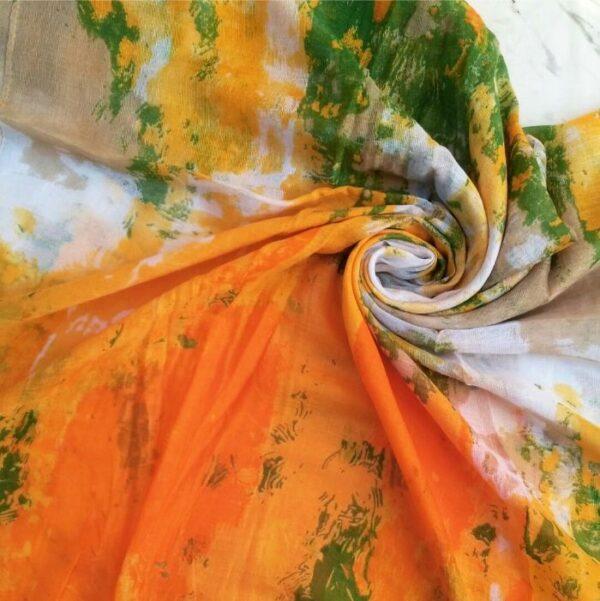 Printed Lawn Orange