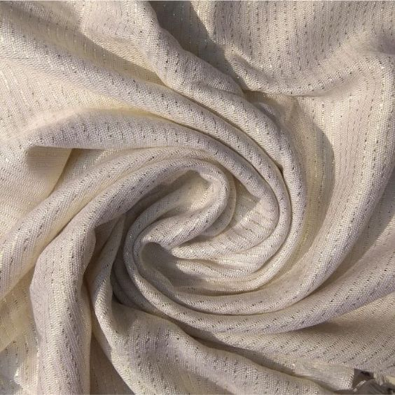 Shimmer Viscose Pearl White
