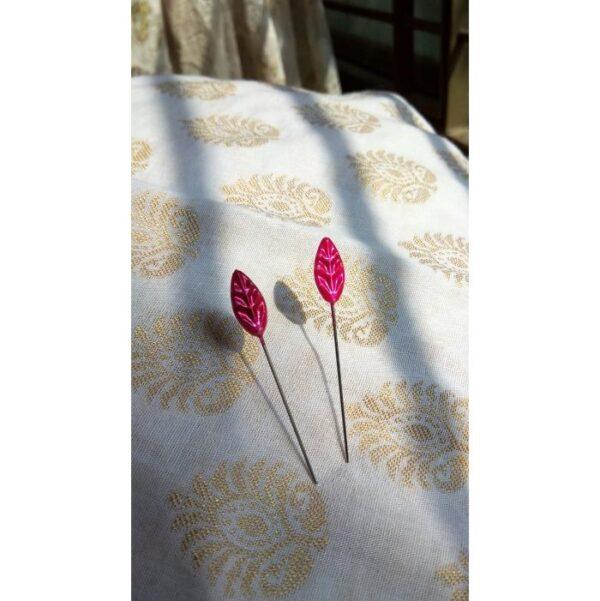 Leaf Shaped Head Hijab Pins4