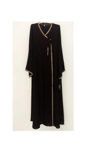 Black Nida Angrakha Dubai Style Abaya