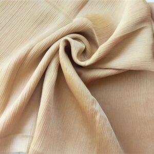 Crinkle Silk Hijab Beige