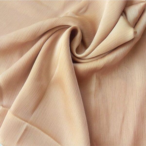 Crinkle Silk Hijab Light Peach