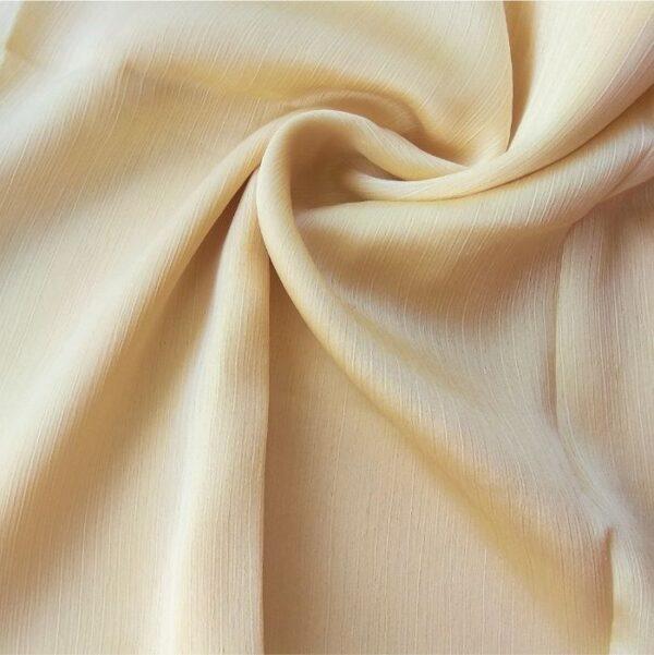 Crinkle Silk Hijab Yellow Gold