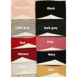 Criss Cross Tube Hijab Cap 10 Colors