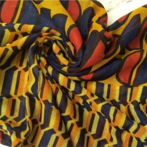 Everyday Printed Lawn Scarf Yellow