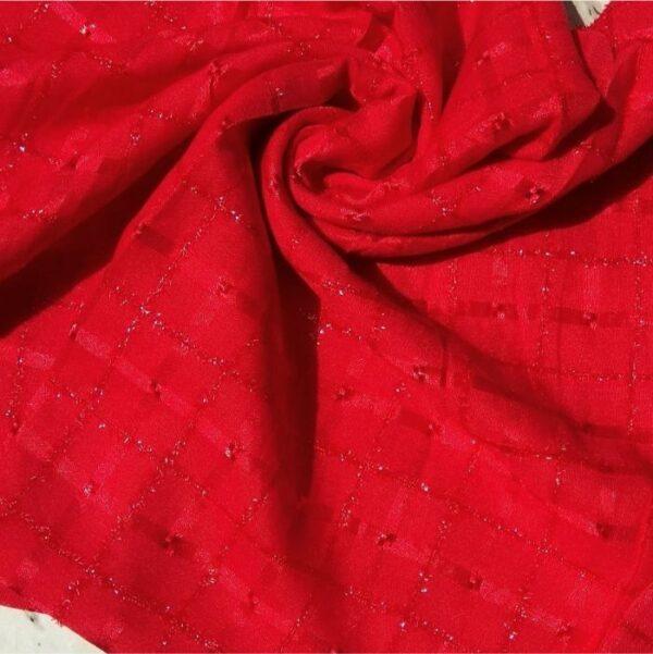 Fancy Lawn Glittery Red