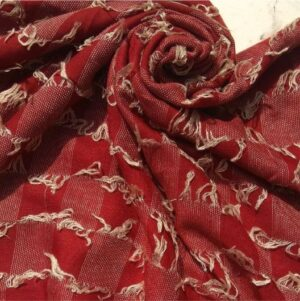 Fancy Lawn with Thread Frills Red