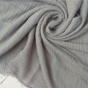 Ripple Cotton Hijab Grey