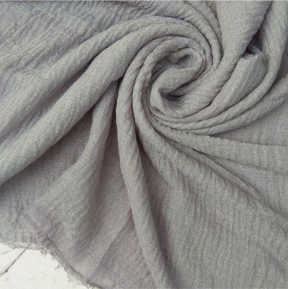 Ripple Cotton Hijab Grey