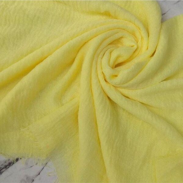 Ripple Cotton Hijab Lemon