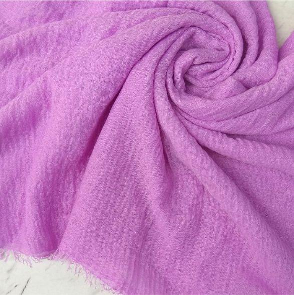 Ripple Cotton Hijab Light Purple
