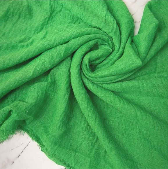 Ripple Cotton Hijab Parrot Green