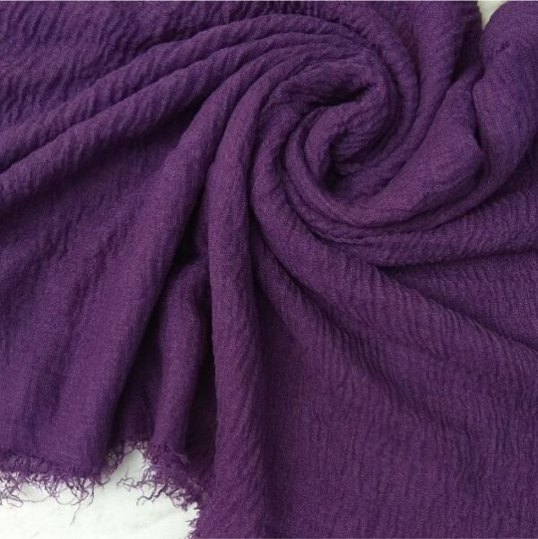 Ripple Cotton Hijab Purple