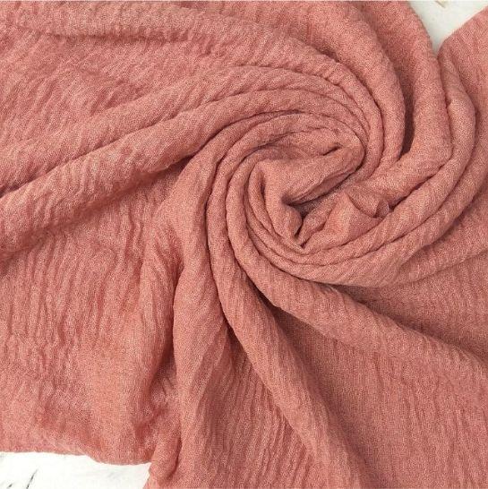 Ripple Cotton Hijab Rouge