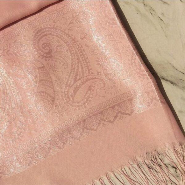 Turkish Silk Scarf Baby Pink