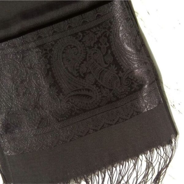 Turkish Silk Scarf Black