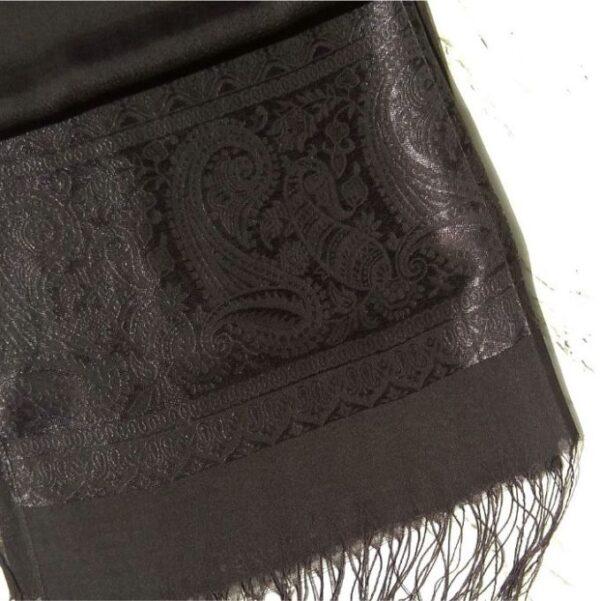 Turkish Silk Scarf Black