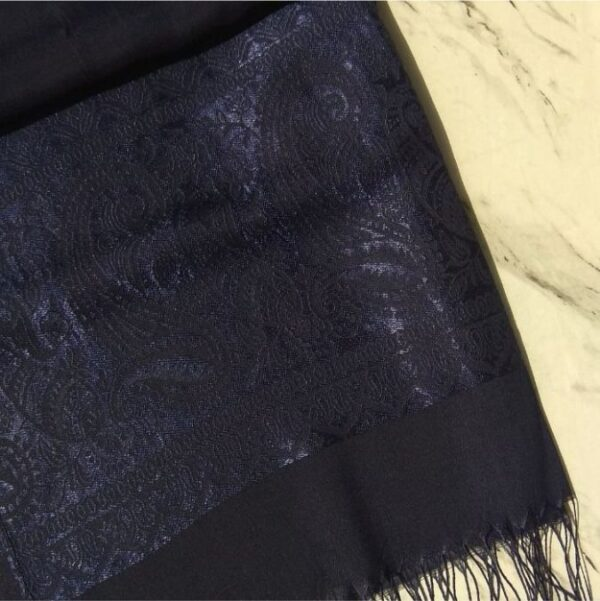 Turkish Silk Scarf Navy
