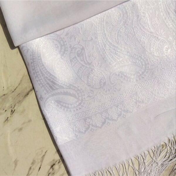 Turkish Silk Scarf White