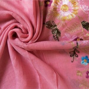 Classic Embroidered Lawn Scarf Cherry Blossom