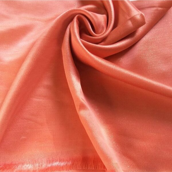 Deluxe Shimmer Silk Stole Coral Pink