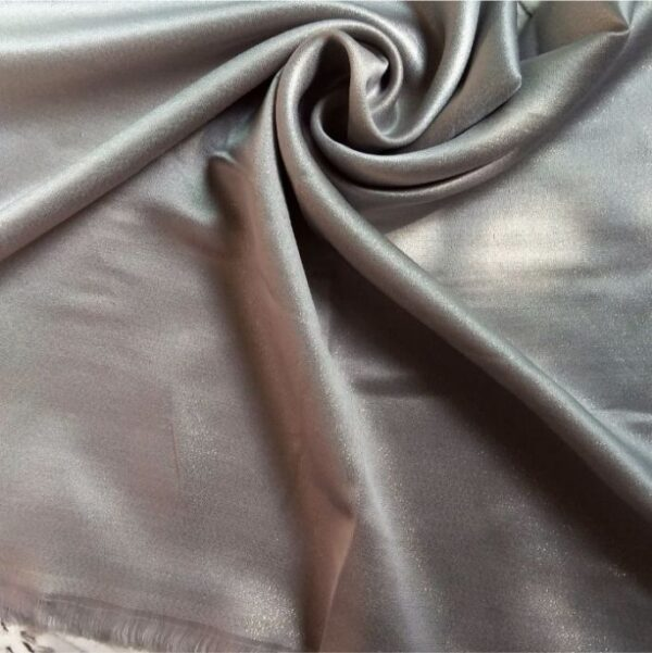 Deluxe Shimmer Silk Stole Silver